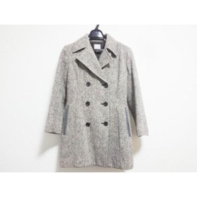 コムサ COMME CA コート サイズ9 M レディース アイボリー×ダークブラウン 春・秋物【中古】