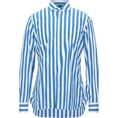 バルバ BARBA Napoli メンズ シャツ トップス Striped Shirt Blue