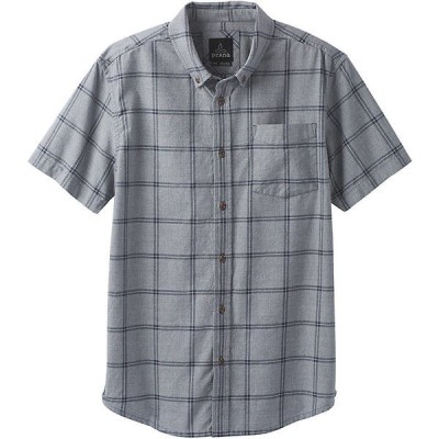 プラーナ シャツ メンズ トップス Prana Men's Broderick Window Pane SS Shirt Coal