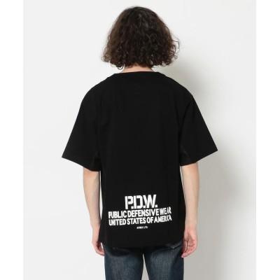 【アヴィレックス】 ベンチレーション Tシャツ/ SS VENTILATION T-SHIRT メンズ ブラック XL AVIREX