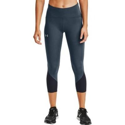 アンダーアーマー レディース カジュアルパンツ ボトムス Under Armour Women's HeatGear Fly Fast 2.0 Crop Leggings Mechanic Blue