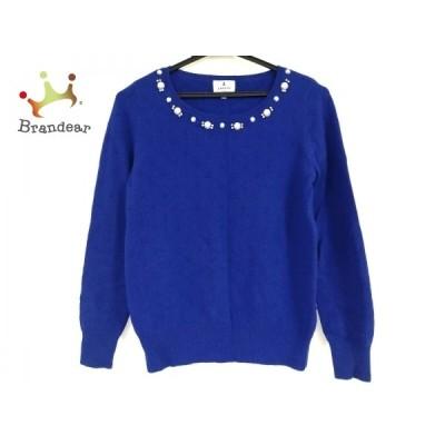 ランバンオンブルー LANVIN en Bleu 長袖セーター サイズ38 M レディース 訳あり ブルー 新着 20201101