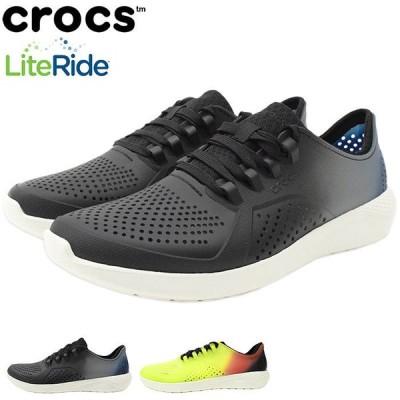 クロックス スニーカー crocs メンズ 男性用 ライトライド カラー ディップ ペイサー ( LITERIDE COLOR DIP PACER SNEAKER シューズ 206557 )