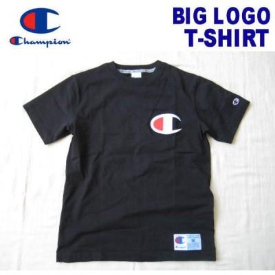 Champion/チャンピオン 【ビッグロゴ刺繍・Tシャツ】 BIG LOGO T-SHIRT C3-F362 ブラック