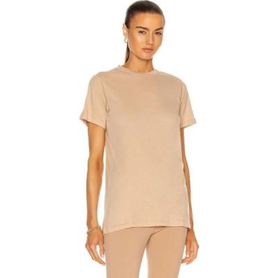 ワードローブ ニューヨーク WARDROBE.NYC レディース Tシャツ トップス Fitted T-Shirt Khaki