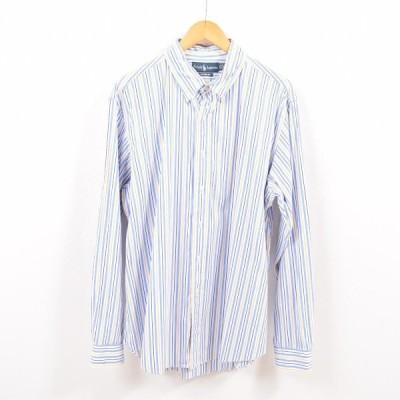 ラルフローレン 長袖 ストライプシャツ メンズXL /wbh0033