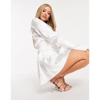 ラブアンドアザーシング レディース ワンピース トップス Love & Other Things flared shirt dress in white White