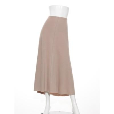 [BED&BREAKFAST]Balancircular Air Melton スカート (BEIGE)