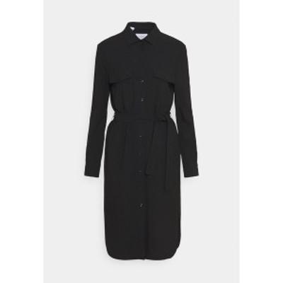マルコポーロ ピュア レディース ワンピース トップス CARGO SHIRTDRESS SUMMER SUITING - Shift dress - black black