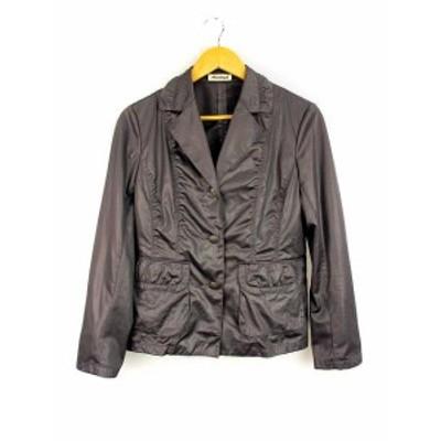 【中古】モネガル Monegal スーツ セットアップ スカート スーツ ジャケット プリーツ 光沢 グレー系 40 レディース