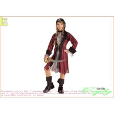 【キッズ】【88R1112】キッズ カリビアンクィーン【海賊】【女の子】【女海賊】【仮装】【パーティ】【ハロウィン】オシャレな子供サイ