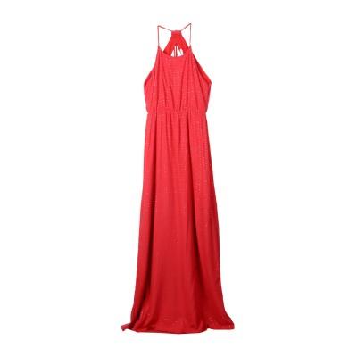 INTROPIA ロングワンピース&ドレス コーラル 40 レーヨン 100% ロングワンピース&ドレス