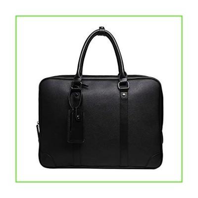 Oichy Mens Messenger Bag 15.6 Laptop Bag Briefcase for Men PU Leather Work Tote Bag Satchel Tablet Business Handbag (Black)【並行輸入