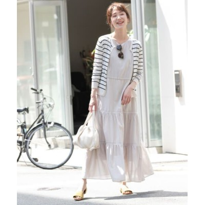 URBAN RESEARCH ROSSO/アーバンリサーチ ロッソ F by ROSSO コットンボイルティアードワンピース L/BEIGE 36