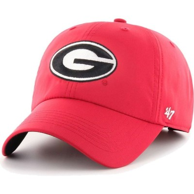 フォーティセブン 47 メンズ 帽子 Georgia Bulldogs Red Clean Up Adjustable Hat