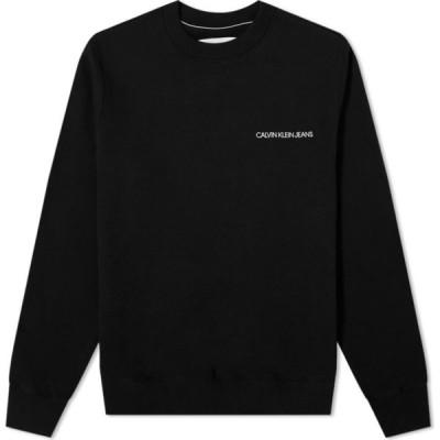 カルバンクライン Calvin Klein メンズ スウェット・トレーナー トップス Monogram Crew Sweat Black