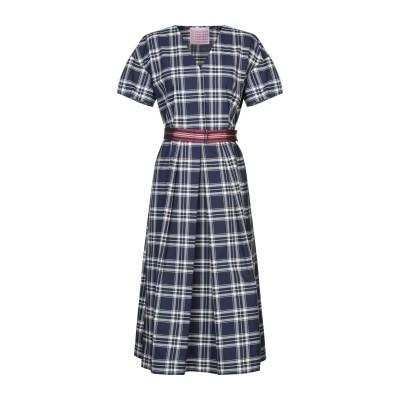 CALIBAN 820 7分丈ワンピース・ドレス ダークブルー 46 コットン 100% 7分丈ワンピース・ドレス