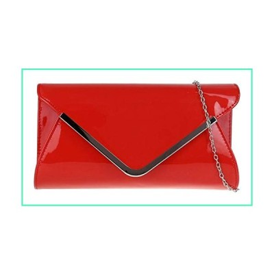 Girly Handbags Womens Glossy Oversized Clutch Bag Red並行輸入品