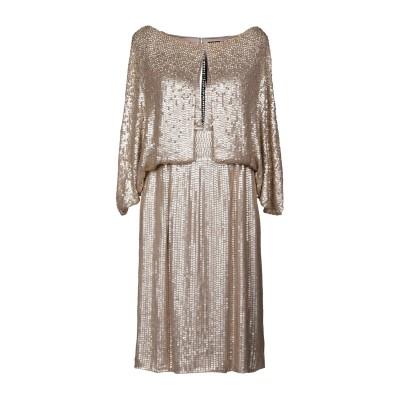 ジェニー・パッカム JENNY PACKHAM ミニワンピース&ドレス プラチナ 12 シルク 100% ミニワンピース&ドレス