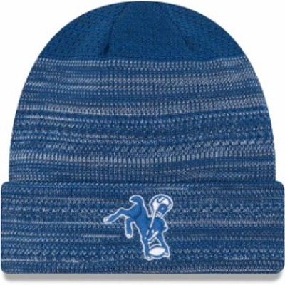 New Era ニュー エラ スポーツ用品  New Era Indianapolis Colts Royal 2017 Sideline Cold Weather Historic TD Knit Hat