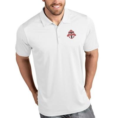 """メンズ ポロシャツ """"Toronto FC"""" Antigua Tribute Polo - White"""