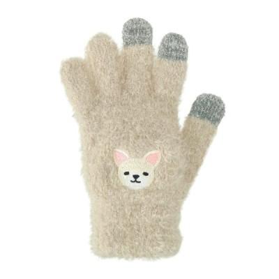 スマホ手袋 白チワワ 17319631078    フリーサイズ