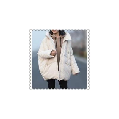 中綿ジャケットレディースコートダウンコートアウターフード付きゆったり冬着痩せ防寒服
