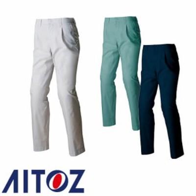 アイトス AZ-3450 シャーリングワークパンツ(1タック AITOZ 作業服 作業着 ポケットなし