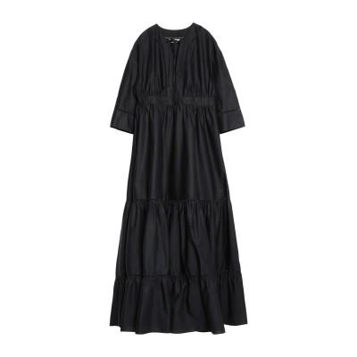 ツインセット シモーナ バルビエリ TWINSET ロングワンピース&ドレス ブラック 38 コットン 96% / ポリウレタン 4% ロングワンピ