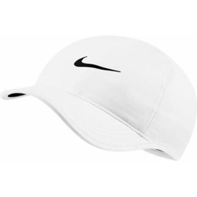 ナイキ レディース 帽子 アクセサリー Nike Women's Court AeroBill Featherlight Tennis Hat White