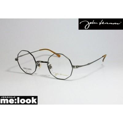 John Lennon ジョンレノン 日本製 made in Japan 丸メガネ クラシック 眼鏡 メガネ フレーム JL1087-3-43 度付可 アンティークシルバー