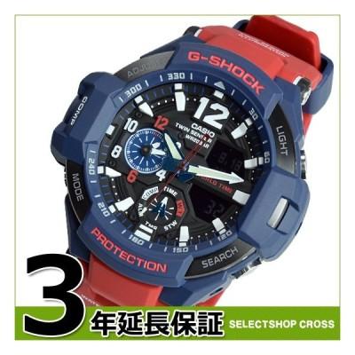 【3年保証】 G-SHOCK CASIO カシオ Gショック メンズ 腕時計 SKY COCKPIT アナログ GA-1100-2ADR ネイビー レッド 海外モデル GA-1100-2A