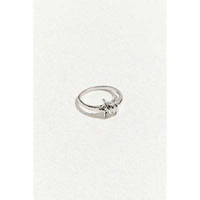 アーバンアウトフィッターズ Urban Outfitters メンズ 指輪・リング ジュエリー・アクセサリー Barbed Wire Ring Silver