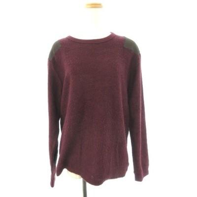 スリック SLICK CONTEMPORARY CLASSIC Tシャツ カットソー クルーネック 長袖 2 赤 レッド /YT29 メンズ【中古】【ベクトル 古着】