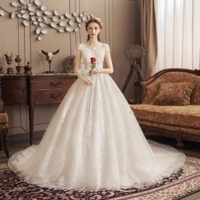 ウエディングドレス プリンセス ロング ドレス 結婚式 披露宴 フェミニン 安い 可愛い ブライダル ブライズメイド