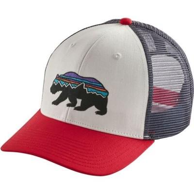 パタゴニア 帽子 アクセサリー メンズ Patagonia Men's Fitz Roy Bear Trucker Hat White