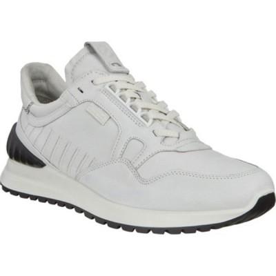エコー スニーカー シューズ メンズ Astir Athletic Fashion Sneaker (Men's) White/Black Cow Leather