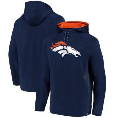 """ファナティックス メンズ パーカー """"Denver Broncos"""" Fanatics Branded Iconic Embossed Defender Pullover Hoodie - Navy"""