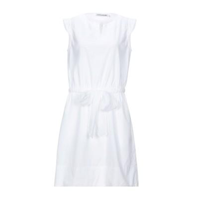 EUROPEAN CULTURE ミニワンピース&ドレス ホワイト S コットン 95% / キュプラ 5% ミニワンピース&ドレス