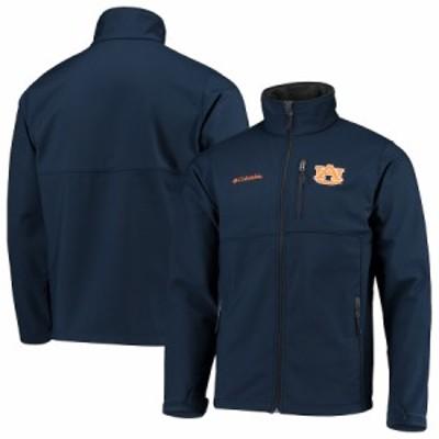 """メンズ ジャケット """"Auburn Tigers"""" Columbia Collegiate Ascender Full-Zip Softshell Jacket - Navy"""