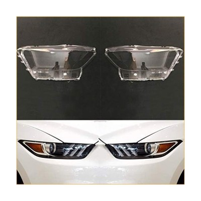 Headlight Clear Cover Car Headlight Lens Fit for Ford Mustang 2014 2015 2016 2017 Car Headlamp Cover Replacement Transparent Auto Shell Auto Parts Hea