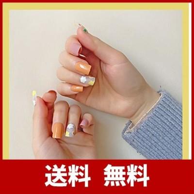 ネイルチップ 両面テープ付き つけ爪 ネイル用シール 24枚セット (0061-B31)