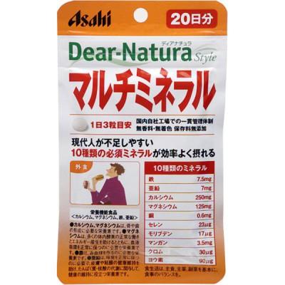 アサヒグループ食品 Dear-Natura Style マルチミネラル 60粒