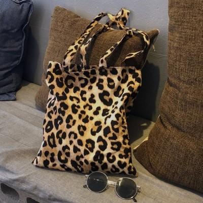 レオパード柄カジュアルトートバッグ 可愛い カジュアル お出かけ 豹柄 ヒョウ BG-0577