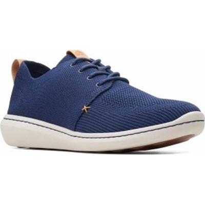 クラークス メンズ スニーカー シューズ Men's Clarks Step Urban Mix Sneaker Navy Textile Knit