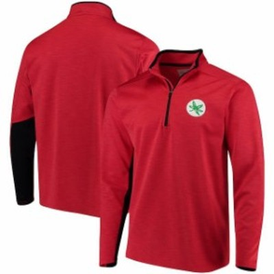 J America Sportswear ジェイ アメリカ スポーツウェア スポーツ用品  Ohio State Buckeyes Scarlet First Down Quarter-Zip Pullover Ja