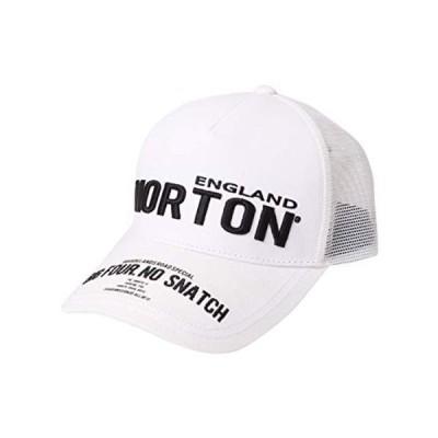 ノートン Norton 帽子 ストリート 3D刺繍 メッシュ キャップ 212N8701 ホワイト F