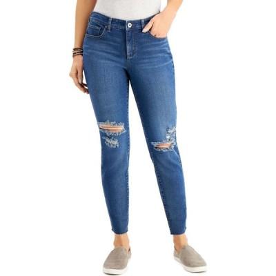 スタイル&コー Style & Co レディース ジーンズ・デニム ボトムス・パンツ Curvy-Fit Ripped Skinny Jeans Symphony