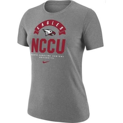 ナイキ Nike レディース Tシャツ ドライフィット トップス North Carolina Central Eagles Grey Dri-Fit Cotton T-Shirt