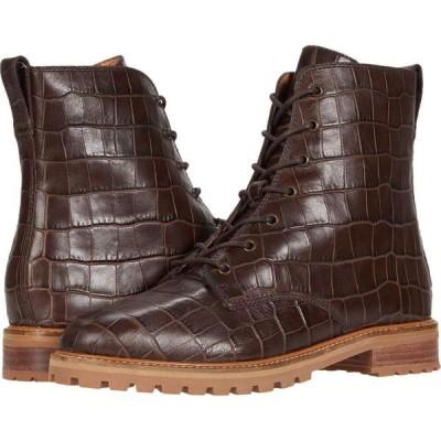 メイドウェル Madewell レディース ブーツ レースアップ シューズ・靴 Clair Lace-Up Boot Dark Coffee Croco